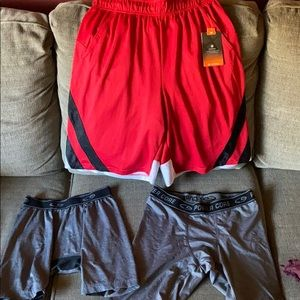 NWT men's sz S red training shorts